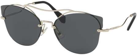 Miu Miu Sunglasses 52SS Pale Gold, Grey Lenses